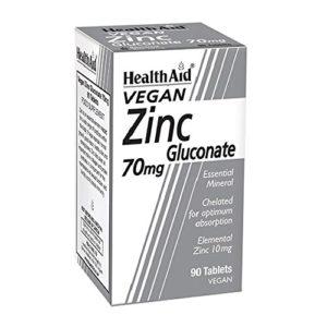 HEALTHAID Gluconate de Zinc Santé 90