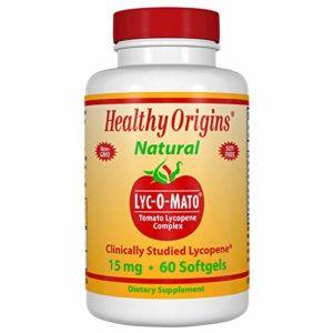 Healthy Origins, Lyc-O-Mato, Tomate Lycopène Complexe, 15 mg, 60 Gélules Capsules