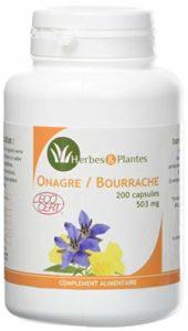 Herbes Et Plantes Mélange Onagre/Bourrache Bio 200 Capsules 503 mg