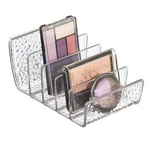 InterDesign Rain organisateur de maquillage, système de rangement pour maquillage en plastique, bac de rangement, transparent