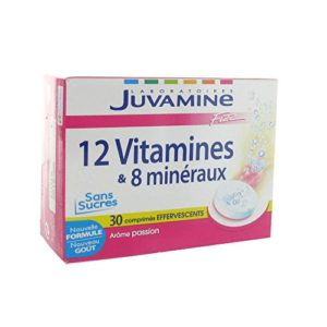 JUVAMINE – JUV061042 – Multi-Vitamines 11 Vitamines 7 Oligo Eléments Fizz – 30 comprimés effervesc