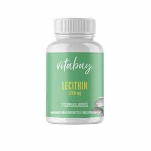 Lécithine 1.200 mg – 120 Veg Capsules – OGM – végétariens – doses élevées!