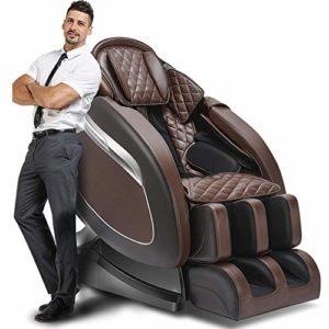 Luxe électrique intelligent chaise de massage horizontale en cuir automatique zéro gravité chaise de loisirs multi-fonction corps capsule masseur,Brown