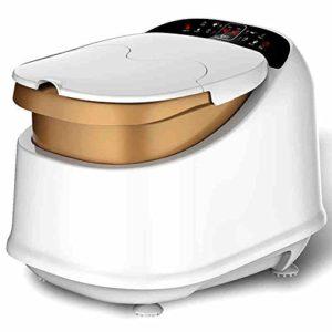 Massage Spa Cuisinière à Pied Home Massage Automatique Bain de Pieds Seau de Chauffage Bassin de Pieds électrique Baignoires Profondes de Bain de Pied (Royal Tea Gold) (450 * 370 * 530mm) Massagiste