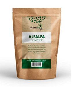 Natures Root Poudre de Luzerne Cultivée (Alfalfa) 500g – Boissons Vertes | Ajouter aux Smoothies et Jus | Detox | Superaliment