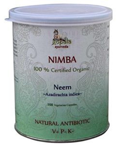 NIMBA -Neem- (Azadirachta indica) BIO 108 gélules (500mg) – Plante Ayurvédique Traditionnelle antibiotique naturel
