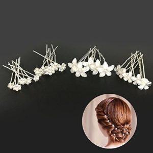 Piques et épingle à cheveux de fleurs, 20pcs pince a cheveux diamant en forme de U, cristal forme,accessoire bijoux cheveux mariage ,le style de bijoux de mariée de mariage.