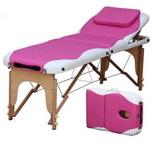 Portable Pliante Table De Massage Professionnel PU Cuir Haute Qualité 3 Sections Réglables Jambe Table De Massage Avec Sac De Transport Et Accessoires Supplémentaires