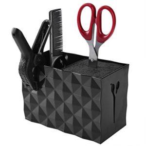 PRETTY SEE Ciseaux Support Rack Ciseaux Coiffeur Salon Coffret de rangement Keeper peignes Bureau organisateur, noir