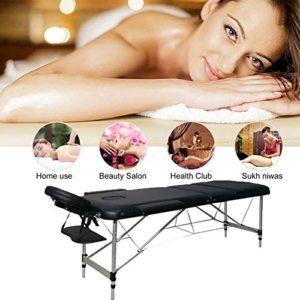Professionnel Pliante Table De Massage Cadre En Aluminium 3-Section Portable Lit De Thérapie De Divan De Beauté Salon De Guérison Reiki