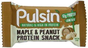 Pulsin Barre végétale protéinée au sirop d'érable et cacahuète