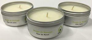 PURESPA Coffret Sensuel de 3 Bougies de Massage Empire des Sens – Lot de 5