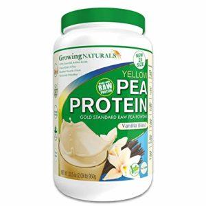 Raw Yellow Pea Protein Isolate Vanilla – 950g