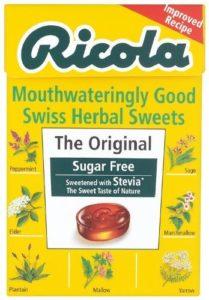 Ricola – Bonbon herbal sans sucre avec stévia Suisse 45g (lot X10)