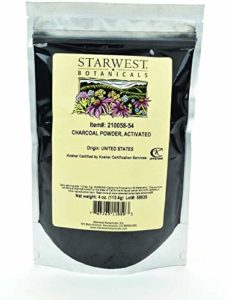 Starwest Botanicals FOOD GRADE US Hardwood Activated Charcoal Powder, 4 Ounces