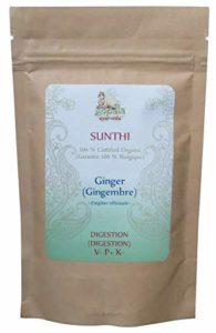 SUNTHI -Gingembre- (Zingiber officinale) BIO en poudre (100 g) – Plante Ayurvédique Traditionnelle pour la Digestion