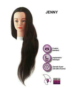 tete d apprentissage Jenny cheveux naturels bruns