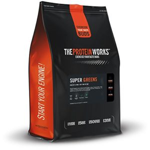 THE PROTEIN WORKS Super Greens Boisson, Mandarine-Orange, 1kg