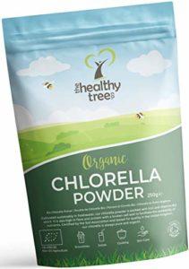 TheHealthyTree Company Poudre de Chlorelle Bio – Riche en chlorophylle, protéines, fer et acides aminés – Parfaite pour les jus verts et les smoothies – Chlorella en poudre pure (250g)