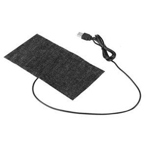 1 PCS Noir 5 V USB Tapis De Chauffage Mat En Fiber De Carbone Tapis De Souris Tapis Chaud Couverture 20 × 10 cm