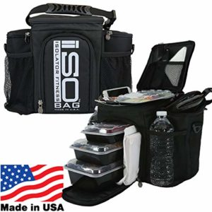 2nd Gen Isobag 3 Meal Silver Logo/Black by Isolator Fitness