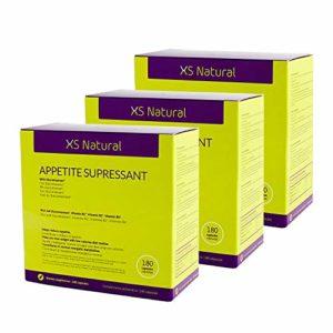 3 XS Natural Appetite Supressant: Pilules coupe faim pour contrôler et réduire l'appét i t