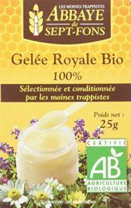 Abbaye de Sept-Fons Gelée Royale Bio Non Congelée 25 g