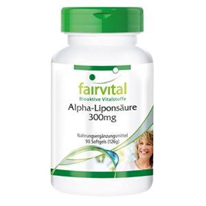 Acide alpha lipoïque 300mg (Alpha-lipoic acid, ALA) – Hautement dosé ! – Lot de 90 gélules pour 3 mois !