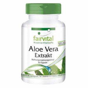 Aloe Vera – set pour pendant 3 mois – végan – 90 gélules – 200: 1 Aloe Vera Barbadensis Miller concentrer