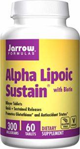 Alpha lipoïque Sustain 300, avec de la biotine, 300 mg – Jarrow Formulas