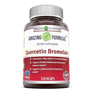 Amazing Nutrition Quercetin 800 Mg with Bromelain 165 Mg – 120 VCaps