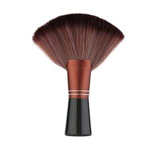 Anself Coupe de Cheveux Brosse à Col Pour Coiffeur Professionnel Outil de Nettoyage de Coiffeur Avec Poignée en Bois Salon Styliste Coiffeur