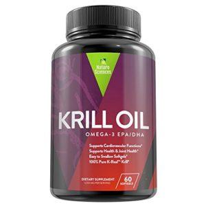 Antarctic Krill Oil Omega 3 Supplement 60 Softgels, 30 Servings