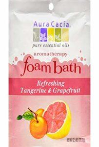 Aura Cacia Bain moussant à la mandarine et au pamplemousse – Aromathérapie éveil et fraîcheur – 71g (Paquet de 6)