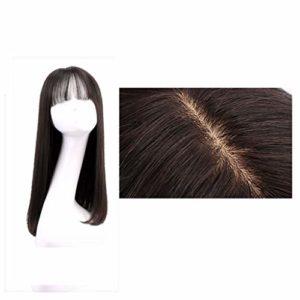 AX- wig Perruque féminine de Simulation de Coiffe de Cuir chevelu/de Vrais Cheveux d'environ 50 cm de Long