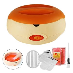 Bain De Cire De Bain De Paraffine Pour Les Mains Et Les Pieds Apporte À La Peau Avec L'Humidité Orange Avec Accessoires,