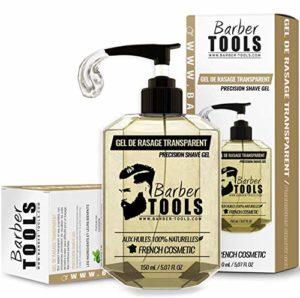 ✮ BARBER TOOLS ✮ Gel de rasage transparent 100ml – Pour un rasage précis des contours de barbe (visibilité, glisse et protection maximale) – FABRIQUE EN FRANCE