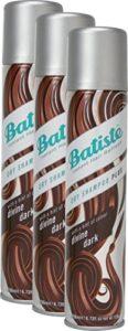 Batiste Shampooing sec (Pack 2 + 1) – Shampooing sec – Color marron foncé (3 x 200 ml)