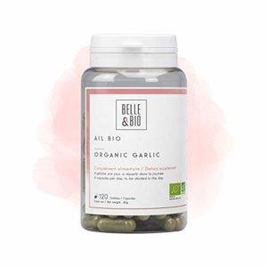 Belle&Bio – Ail Bio – 120 gélules – 1200 mg – Circulation – Certifié Bio par Ecocert – Fabriqué en France