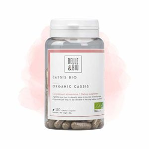 Belle&Bio – Cassis Bio – 120 gélules – 1000 mg – Articulation – Certifié Bio par Ecocert – Fabriqué en France