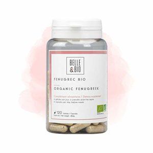 Belle&Bio – Fenugrec Bio – 120 gélules – 1800 mg – Digestion – Certifié Bio par Ecocert – Fabriqué en France