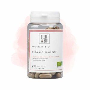 Belle&Bio – Prostate Bio – 120 gélules – Confort Masculin – Certifié Bio par Ecocert – Boldo, Courge et Ortie – Fabriqué en France