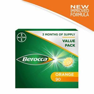 Berocca BULK Pack 15 x 6 comprimés multivitaminés magnésium Soluble en Zinc Orange