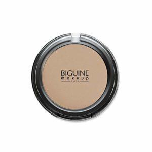 BIGUINE MAKEUP PARIS – Poudre Compacte Soie – Compact Powder – Teint Uniforme – Origine Minérale – Maquillage – Dorée – 11 g