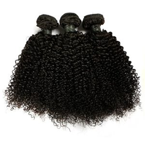 BLISSHAIR Lot de 3 Bresilienne Virgin Hair Baby Deep 12″ court cheveux Bresilienne vierges de Tissages Lot de 200 g/Extensions de cheveux humains