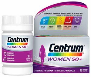 Centrum Women 50+ – Multi Vitamines et Minéraux – Complément alimentaire pour femmes de 50 ans et plus – Flacon de vitamines / 30 comprimés