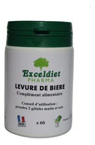 CHEVEUX ONGLES PEAU ACNE – LEVURE DE BIERE – 60 gélules à la Chlorophylle- Exceldiet Pharma