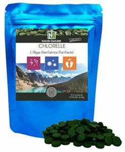Chlorelle | 90 Comprimés de 505mg | NAKURU Équilibre | Poudre Séchée et Compressée à Froid | Analysée et Conditionnée en France |»L'Algue Bienfaitrice Purifiante»