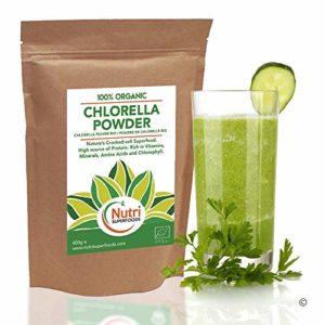 CHLORELLE BIO EN POUDRE – Riche en protéine végétalienne, en Fer et en Chlorophylle – 400g