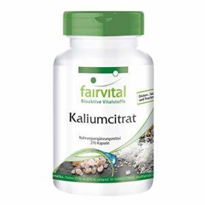 Citrate de Potassium- Boite pour 3 mois – HAUTE DOSE – VÉGAN – 270 gélules…